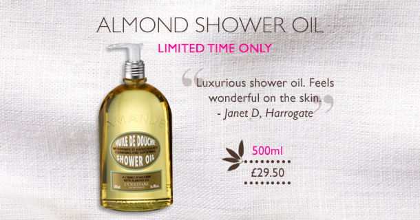 Large Size Almond Shower Oil